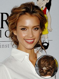 Wavy Updo Hairstyle Pictures
