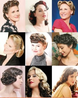 Pin Curls Hairstyle Ideas - Pin Curl Hairstyle Illustrations